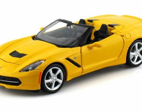 Corvette 2014 Convertible Yellow 1/24 Diecast