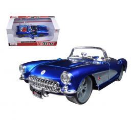 Maisto 1:24 W/B All Stars 1957 Chevrolet Corvette Blue