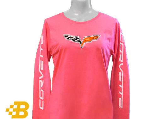 C6 Ladies Long Sleeved Corvette Emblem Shirt
