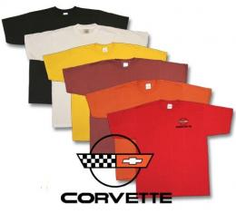Corvette Embroidered T-Shirt with C4 Logo
