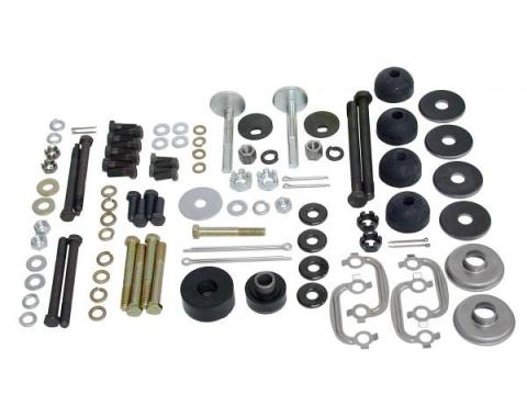 Corvette Rear Suspension Hardware Kit, Polyurethane Bushings, 1978-1979