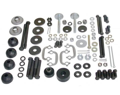Corvette Rear Suspension Hardware Kit, Polyurethane Bushings, 1969-1977