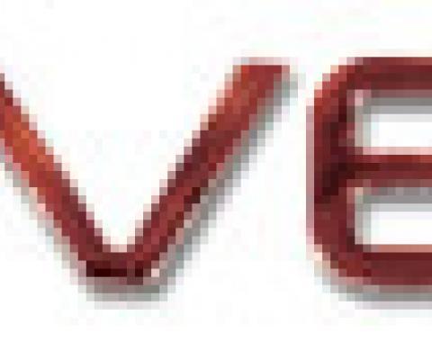 Corvette Letter Set, Rear Acrylic Red, 1991-1996