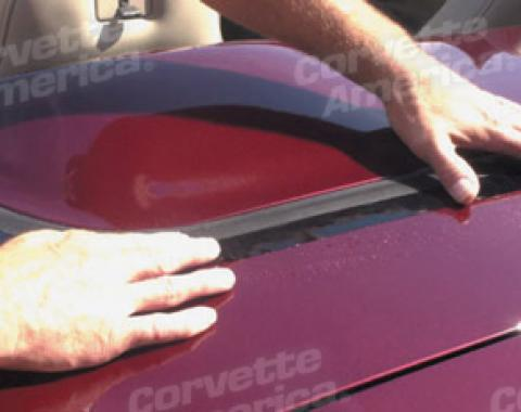 Corvette Deck Lid Protector, Softtop Black, 1998-2004