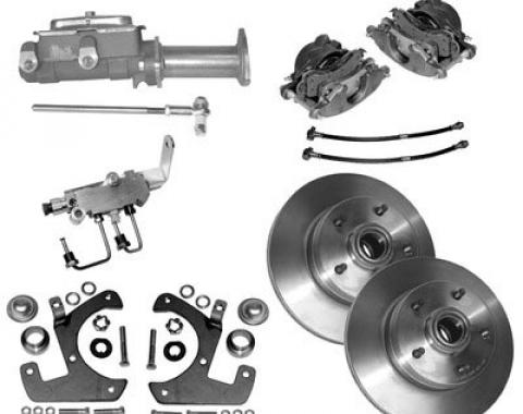Corvette Disc Brake Conversion Kit, Front, Standard, 1953-1962