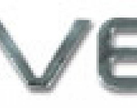 Corvette Rear Bumper Lettering Kit, 1991-1996 | 91-96 Chrome