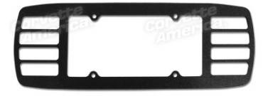 Corvette License Louver, Acrylic Black, 1997-2004
