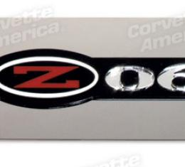 Corvette Exhaust Plate, Z06 Emblem Stainless Steel, 1997-2004
