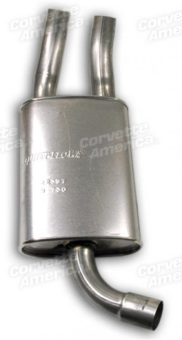 Corvette SoundFX Muffler, Stock Reproduction, Left, 1985-1990
