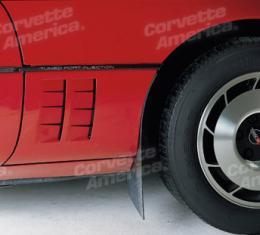 Corvette Side Vent Louvers, 12 Piece Set, 1984-1990