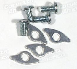 Corvette Valve Cover Bolts, with Reinforcements, 8 Piece, 1953-1955