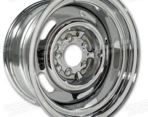 Corvette Rallye Wheel, Chrome 15X8, 1969-1982
