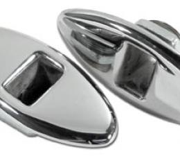 Corvette Softtop Latches, Rear on Decklid, 1953-1955
