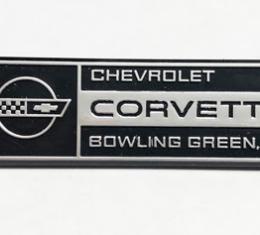 Corvette Emblem, Hood Underside Bowling Green, 1984-1993