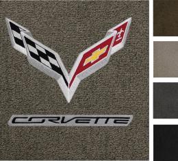 Corvette Floor Mats, 2 Piece Lloyd® Ultimat™, with C7 Flags & Corvette Script, 2014-2016