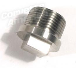 Corvette Rear End Drain Plug, Stainless Steel, 1965-1979