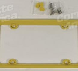 Corvette License Frame, Phantom Milnm Yellow, 2000-2004
