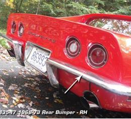 Corvette Rear Bumper, Right USA, 1968-1973