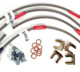 Corvette Brake Line Kits, Braided Ss, 1997-2004