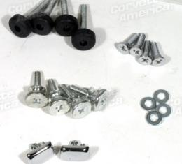 Corvette Seat Hardware Repair Kit, with Buttons, 1970-1973