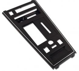 Corvette Shift Console Plate, with Powr Windows/Rear Defrost & Power Mirror, Collector, 1982