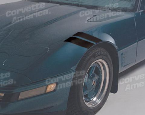 Corvette Front Fender Accent Strips, Black, 1984-1996
