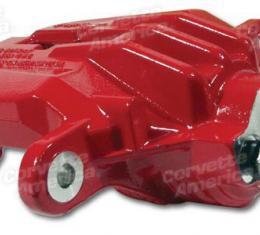 Corvette Brake Caliper, New, Left Rear Z06 Style Red, 1997-2004