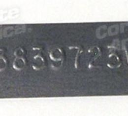 Corvette Transmission Tag, 3839723W, T-10 4 Speed Close Ratio, (63 Early), 1963