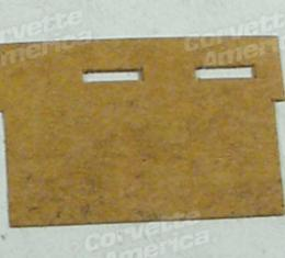 Corvette Washer Pump Cover, Fiber, 1963-1967