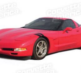 Corvette Front Fender Accent Stripes, Black, 1997-2004