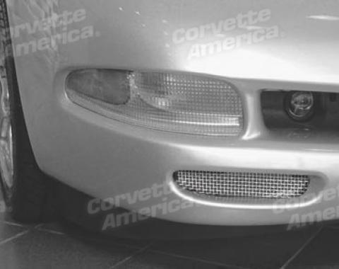 Corvette Brake Duct Screens, Stainless Steel, 1997-2004