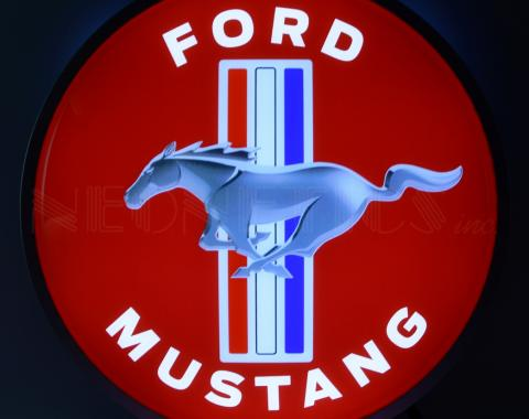 Neonetics Backlit and Specialty Led Signs, Ford Mustang 15 Inch Backlit Led Lighted Sign