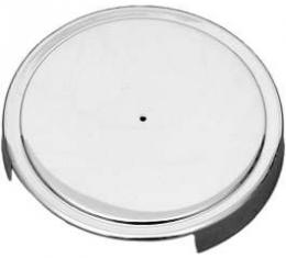 Corvette Windshield Washer Reservoir Cap Cover, Chrome, 1975-2013