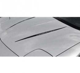 Corvette Hood Decal Kit, With Word Corvette, Black, 1997-2004