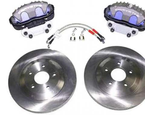 Corvette C4 Brake Upgrade Kit, C5 Rotors & Front Brake Calipers, 1988-1996