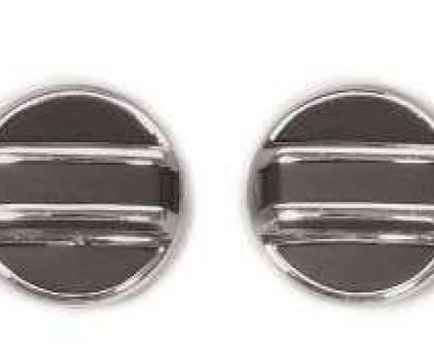 Corvette Door Lock Knobs, Inside, Import, 1968-1977
