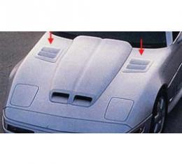Corvette Hood Louvers, C4R, Functional, John Greenwood Design, 1984-1996