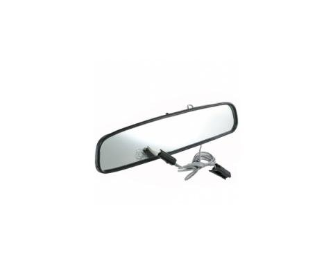 "0"" Inside Rear View Mirror w/MAP Light, Black Back"