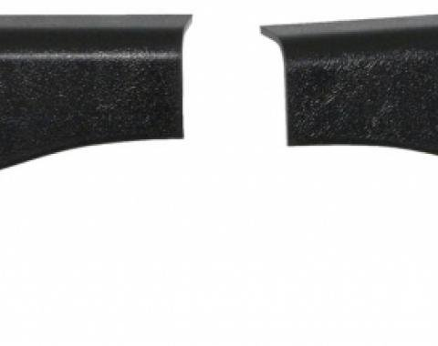 Corvette Lock Pillar Covers, Upper, Convertible, 1986-1987