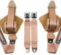 Corvette Replacement Seat Belts, Single Retractor With GM Metal Push Button Buckle, Convertible, 1986-1996