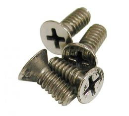 Corvette T-Top Rear Mount Plate Screws, 4 Piece, 1968-1979
