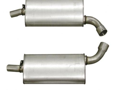 Corvette Mufflers, 2.5 Inch (73 Replacement), 1968-1973