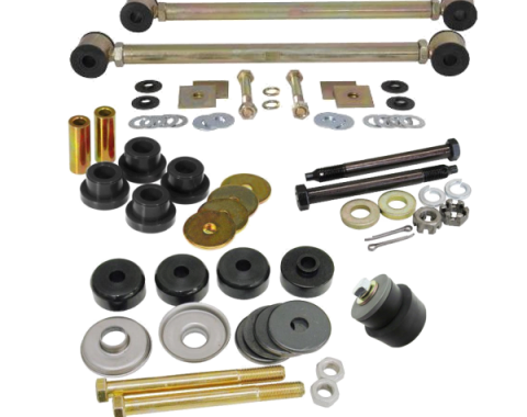 Corvette Rear Suspension Bushing Kit, with Adjustable Strut Rods & Polyurethane Bushings, 1963-1979