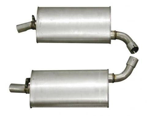 Corvette Mufflers, 2 Inch (73 Replacement), 1968-1973