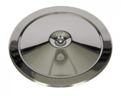 Classic Headquarters Chrome Air Cleaner Lid, Open Element/Cowl W-244