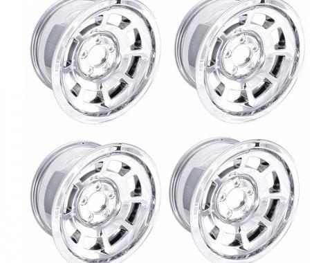 Corvette Wheel, Reproduction, Chrome, Set of 4, 1968-1982