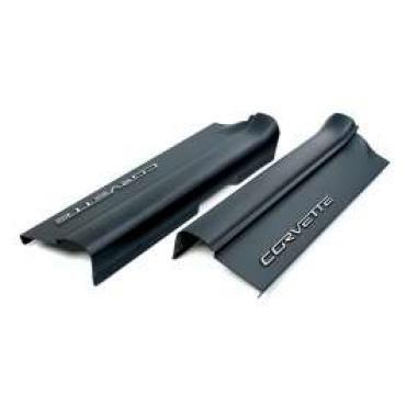 Corvette Sill Protectors, Sill Ease, Black, 2005-2013