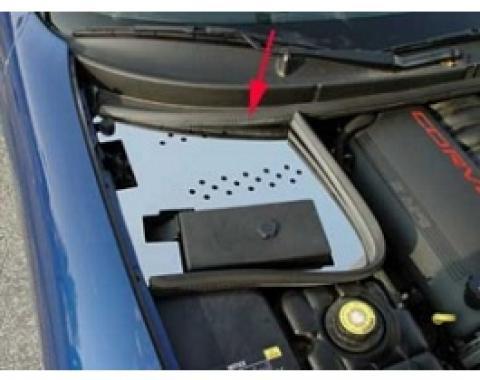 Corvette Battery Den Cover, Chrome, 1997-2004