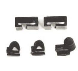 Corvette Windshield Wiper Arm Washer Tube Nozzle Clip Kit, Right, 1969-1974 Early