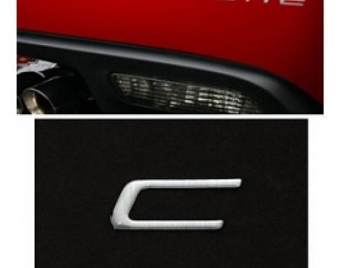 Corvette Rear Bumper Lettering Kit, Domed, 2005-2013 | Silver
